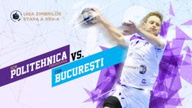 Handbal Masculin: SCM Politehnica Timisoara – CSM Bucuresti