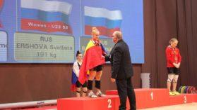 Elena Andries si Ilie Ciotoiu au cucerit cate trei medalii la Europenele de juniori si U-23 la haltere