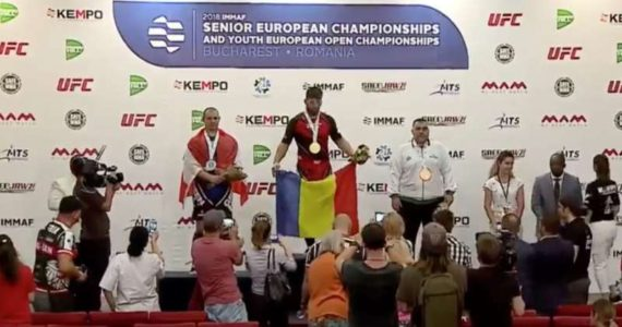 Romania a castigat prima medalie de aur din istorie la Europenele de MMA