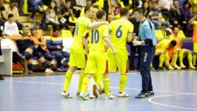 Nationala de futsal a Romaniei, dubla victorie cu Albania, la Arad!